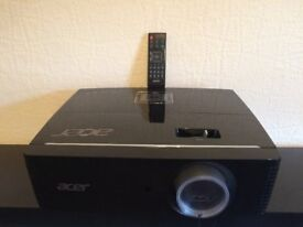 Acer P7215 1080p 3D HDMI Network DLP Professional Projector, 6000 ANSI, Crisp Display, Full Working