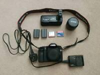 Canon 40D Digital SLR - 18-55mm Lens - Portrait Grip - 2x Batteries - 2x Memory Cards