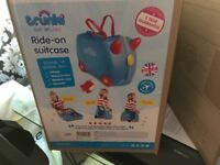 Barnd new sealed in boxes kids trunki suitcases blue or pink bargain £19 each