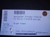 BRYAN ADAMS CONCERT WORCESTER SIXWAYS STADIUM JULY FRIDAY 14 SOUTH STAND