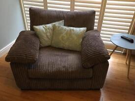 Monk cord armchair