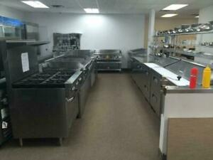 RESTAURANT EQUIPMENT AND SUPPLIES NOT USED, BRAND NEW, VERTICAL COOLERS, FREEZERS, CURVED DISPLAY, PREP TABLES, FRYERS