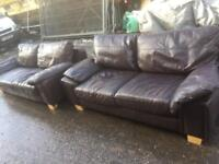 Leather 3 seater 2 seater sofas