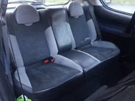 Peugeot 206 GTi front and rear seats