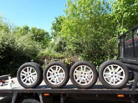 HONDA CIVIC ALLOY WHEELS WITH TIRES 195/60 R15