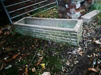 Concrete flower trough
