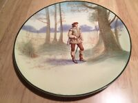 Royal Doulton plate of Shakespeare's Orlando