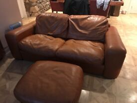 2 large Italian 2 seater sofas with 2 footstool