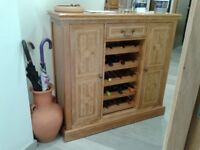 Solid mango wood sideboard/drinks /wine rack