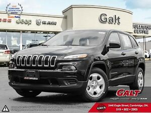 2016 Jeep Cherokee | SPORT | DEALER DEMO SELL OUT | TIRE SENSOR  Cambridge Kitchener Area image 1