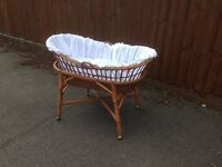 Beautiful moses basket on stand