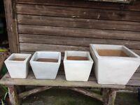 Ikea cream terracotta pots