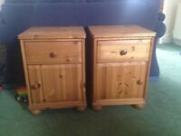 Pair of pine bedside cabinets £50