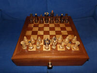 Hand Carved Wooden Chess Set
