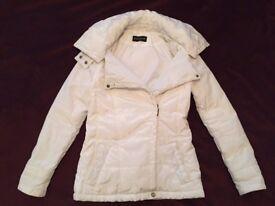 White Women's Parka Jacket, size S