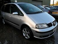 seat alhambra 2.0 tdi 7 setter 2006 sold with full years mot