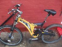 full suspension mountain bike 21 geared