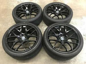 19 Matt Black Staggered Wheels 5x120 and Staggered Tires (BMW Cars) Calgary Alberta Preview