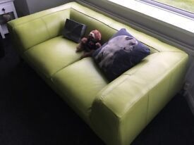 Sofa for sale - £120 Ono - green genuine leather