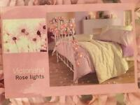 Pretty rose fairy lights string - new in box