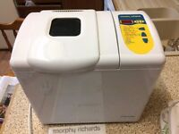Bread Maker - MORPHY RICHARDS - with instructions & cover