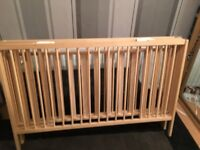folding baby cot with mattress Brand new