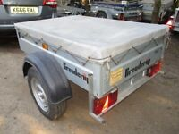 BRENDERUP 5-0 X 3-6 (600KG) GOODS TRAILER WITH COVER.....