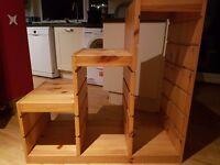Trofast pine 3 tier unit