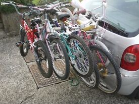 TOWBAR CARRIERS (for) 2,3,4,or more bikes (4 or more bikerack £65)