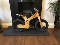 Beautiful pre-loved Early Rider balance bike in wood and leather