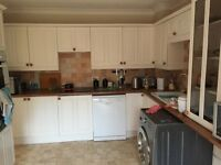 Used kitchen units, oven, hob, extractor fan