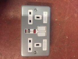 Twin RCD socket