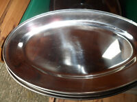 Stainless steel serving flats (platters) (see blurb for prices)
