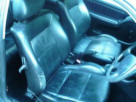 mk3 golf black Leather Interior