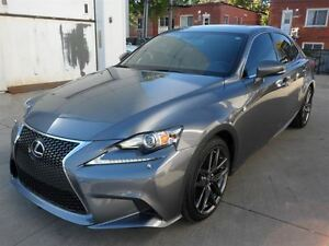 2014 Lexus IS 250 AWD TOIT+NAVI+CUIR ROUGE+FSPORT 2