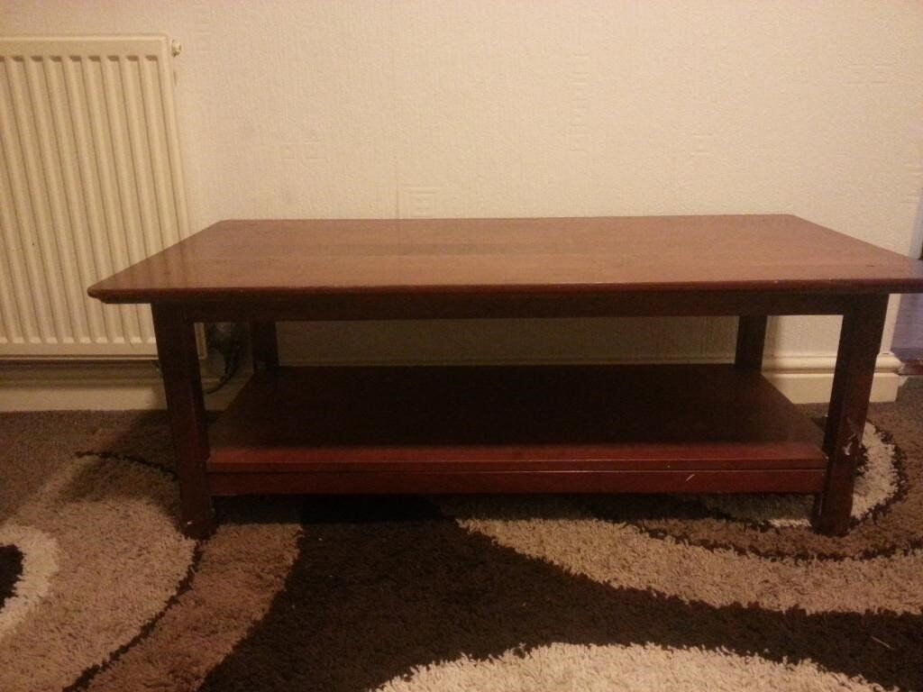 solid wooden large size 2 x shelves coffee table in  : 86 from www.gumtree.com size 1024 x 768 jpeg 85kB