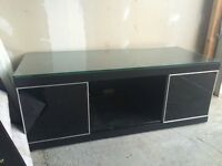 Black gloss (with two black glass doors) Sony TV stand **must go this week***