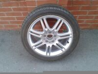 Mercedes 17 inch 7 Twin Spoke Alloy Wheel and Tyre.