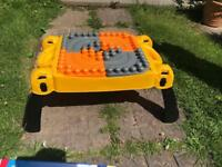 Children's Lego Table with building blocks