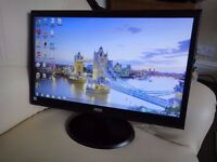 "20"" LED Slim Monitor in Excellent Condition."