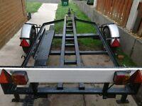 Motor bike trailer 9ft by 4 £150 ono
