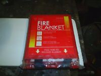 new fire blanket still in wrapper
