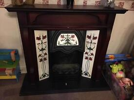 Electric Fire Suite Victorian Freestanding