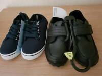2 pairs of brand new boys shoes size 10