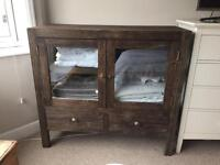 Chunky dark wood cabinet