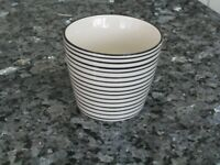 Black and White Stripe Large Mug / Cup - Set of 4- IB Laursen Casablanca Danish Design*NEW & LABELS*