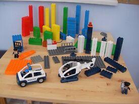 Assorted Duplo Lego pieces