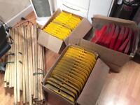 Job lot of 67 snow shovels and handles