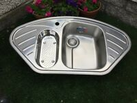 Franke one and half bowl kitchen sink