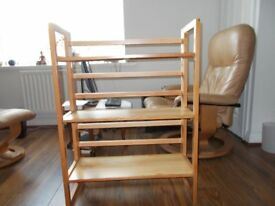 Three Folding Bookshelves, all different, and all good quality, £50 for the three.